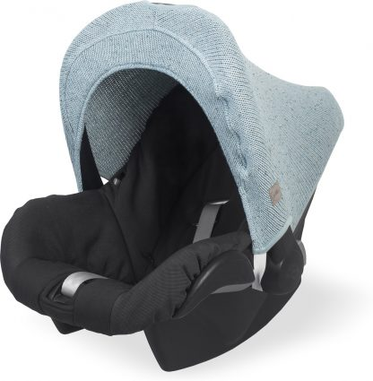 Jollein Confetti knit Autostoel Zonnekap - 0 tot 9 maanden - Stone green