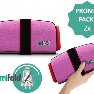 Mifold PROMOPACK- De meest compacte zitverhoger- Voordeelpak: 2x perfect pink