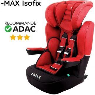 NANIA I Max Deluxe Isofix Group 1-2-3 autostoel - rood