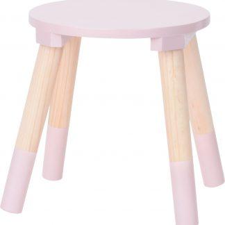 kinderkrukje roze voor aan een kleine kindertafel - kinderstoel - krukje - bijpassende tafel ook te verkrijgen bij ons (BEAU By Bo) - houten stoel voor kinderen