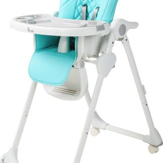 B-Dinner Chair Wheely Kinderstoel - Blauw
