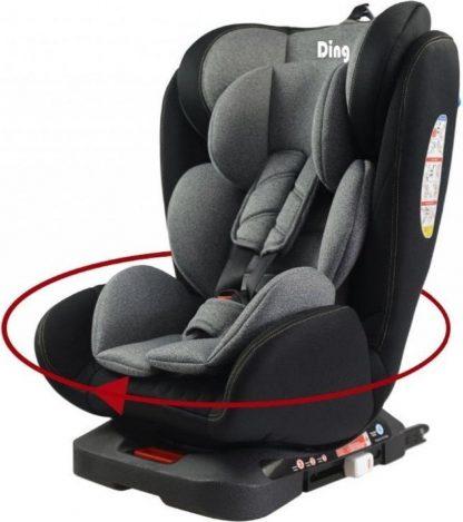 Ding Autostoel Twist 360 Grijs