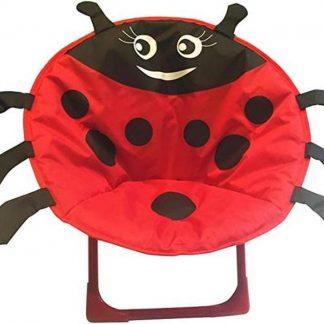 Kinderstoel - Campingstoel - Opvouwbaar - ⌀ 50 cm - Lieveheersbeestje