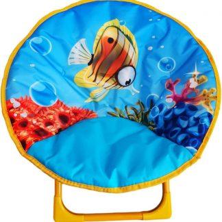 Kinderstoel - Campingstoel - Opvouwbaar - ⌀ 50 cm - Vissen