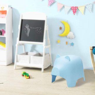 Kinderstoel | Varken Ontwerp | Kunststof | Blauw