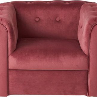 Kids stoel / Kinderstoel / velvet / fluweel / velours / roze
