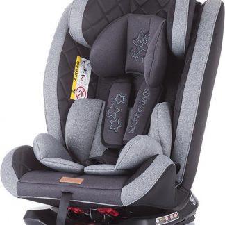 Autostoel Techno isofix grijs grafiet 0-36 kg 360 graden draaibaar