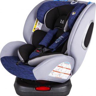 Blij'r Bas Plus Autostoel - 360 graden draaibaar - 0-12 jaar - Isofix - Blauw