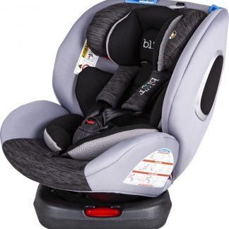 Blij'r Bas Plus Autostoel - 360 graden draaibaar - 0-12 jaar - Isofix - grijs