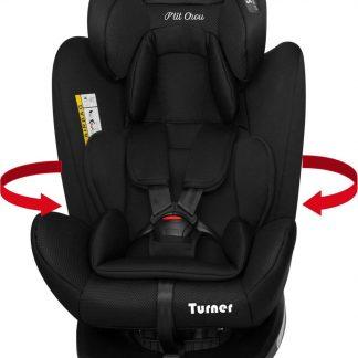 P'tit Chou Turner Autostoel 360° draaibaar - Stof