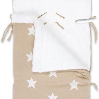 Baby's Only Voetenzak autostoel 0+ Star - beige/wit