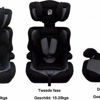 HiBaby Autostoel 9-36kg - Zwart-Grijs
