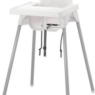 Kinderstoel Met Blad - WIT - Hoge Kinderstoel - Eetstoel - Kinderstoelen - Kinderzitje