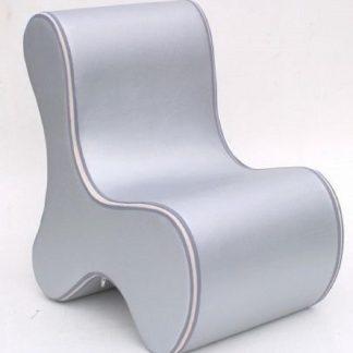 Kinderstoel - Peuterstoeltje-kinderfauteuil-Foam Stoeltje - Ozo Bone - Zilver - kinderzetel - stoel kind - stoeltje voor kind - stoeltje voor peuters - design stoel