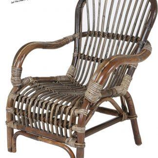 Rotan rieten kinderstoel bruin| Bandung Loungestoel |rotan fauteuil | rieten stoel | stoel kind | Kinderstoeltje