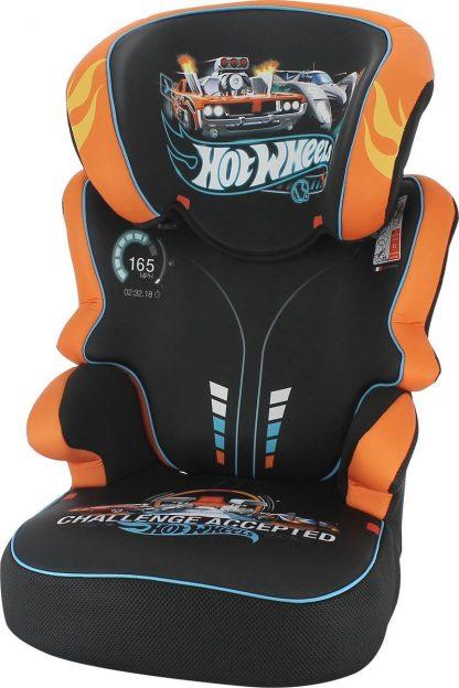 Autostoel Befix - Kinderautostoel - groep 2 en 3 - Mattel Hotwheels
