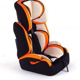 Autostoel - Kinderstoel - Groep 2/3 - Crème/Oranje