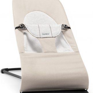 BABYBJÖRN Wipstoeltje Balance Soft - Beige-Grijs Cotton-Jersey
