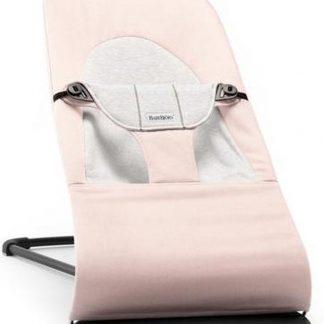 BABYBJÖRN Wipstoeltje Balance Soft - Lichtroze-Grijs Cotton-Jersey