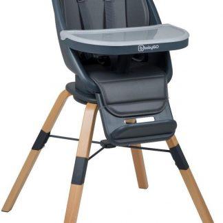 BabyGO Kinderstoel Carou 360° Grijs