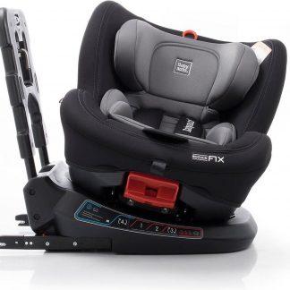 Babyauto Birofix Autostoel - Black/Grey - 360 graden draaibaar
