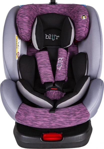 Blij'r Bas Plus Autostoel - 360 graden draaibaar - 0-12 jaar - Isofix - roze