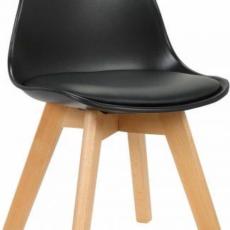 Clp Lindi Kinderstoel - Kunstleer - Zwart