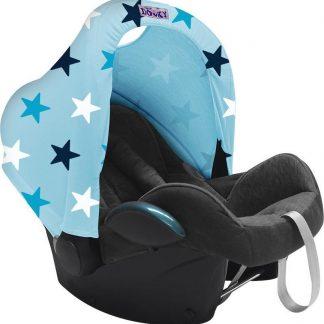 Dooky Hoody Autostoel Zonnekap - Blauwe Sterren
