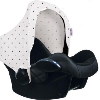 Dooky Hoody Autostoel Zonnekap - Light Grey Crowns