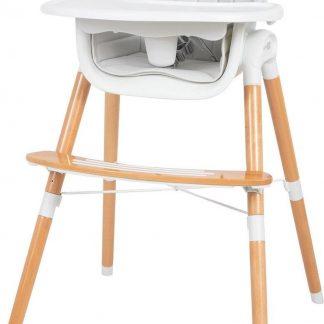 FreeOn Kinderstoel Tin 2in1 - Eetstoel voor kinderen - Lichtgrijs