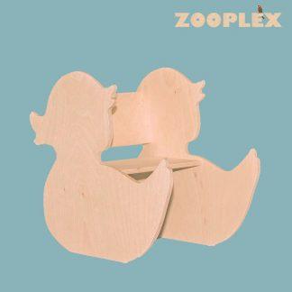 Gepersonaliseerde kinderstoel in de vorm van een Eend
