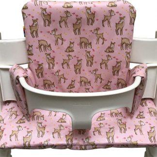 Geplastificeerd kussenset voor de Tripp Trapp kinderstoel van Stokke - Bambi roze