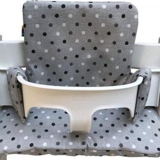 Geplastificeerd kussenset voor de Tripp Trapp kinderstoel van Stokke - Confetti grijs