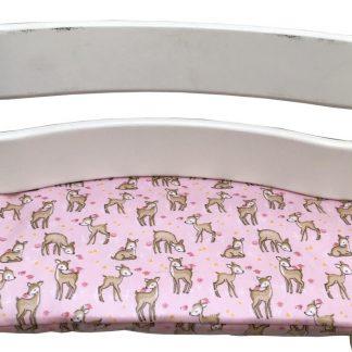 Geplastificeerd zitkussen voor de Tripp Trapp kinderstoel van Stokke - Bambi roze