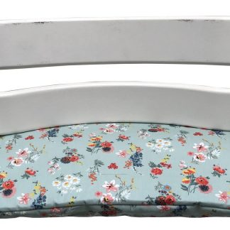 Geplastificeerd zitkussen voor de Tripp Trapp kinderstoel van Stokke - Veldbloemen mintgroen