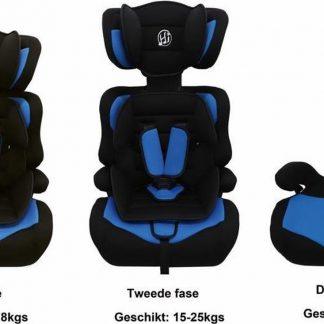 HiBaby Autostoel - 9-36kg - Zwart-Blauw