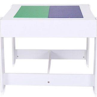 Kinderstoelen met Tafel - Houten Stoelen - Met lades - Wit