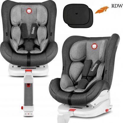 Lionelo Lennart - Autostoel Isofix - 0-18kg met support leg - voor- en achterwaartse richting - Stone grijs