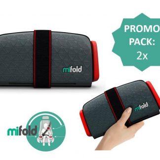 Mifold zitverhoger- De meest compacte zitverhoger- Voordeelpak: 2x grijs