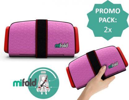 Mifold zitverhoger- De meest compacte zitverhoger- Voordeelpak: 2x perfect pink