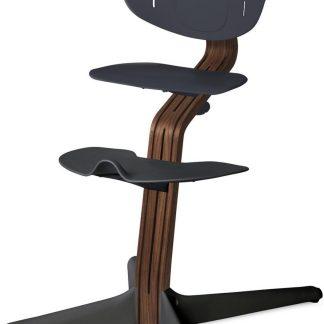 NOMI highchair kinderstoel meegroeistoel Basis walnoot nature oiled en stoel anthraciet