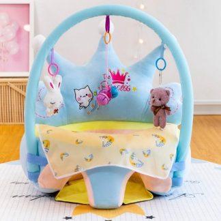 Nuddbyssu/ Baby zitkussen/ Baby gym/ playseat/ Play babystoel /blauw