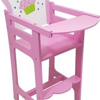 "Poppen kinderstoel roze ""cupcake"""