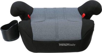 Titaniumbaby iSafety! Booster Zitverhoger - Groep 3 - Isofix - Zwart/Grijs