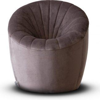 Velvet Kinderfauteuil Quint - Lila/grijs (Kids stoel / Kinderstoel / velvet / velours / slaapkamer / kinderkamer)
