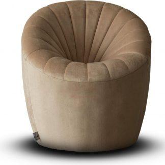 Velvet Kinderstoel Quint - Crème (Kids stoel / Kinderstoel / velvet / velours / slaapkamer / kinderkamer)