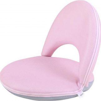 Vloerstoel kleuter - kinderstoel verstelbaar rugleuning roze MULTIFUNCTIONEEL