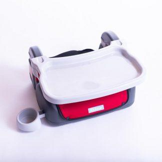 Young&Royal Zitverhoger Auto - Stoelverhoger - Kinderzitje Reizen - AutoZitje - Met dinér tafel en Fleshouder - Zitverhoger voor op Reis - 4 tot 12 jaar - Peuter - Kleuter - Autostoel - Universele pasvorm