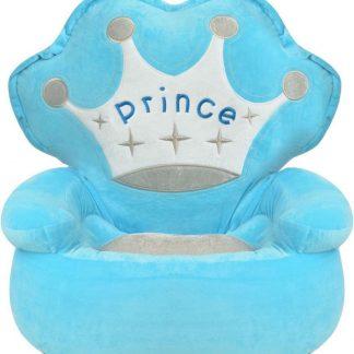 forbabies Pluche Fluweel Zacht Kinderstoel Prince Blauw