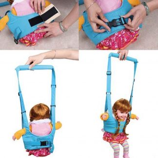 Baby harnas - Loop assistent - Loop harnas - Kinderdrager - Baby's leren lopen - Walker - Ondersteuning bij eerste stapjes - Babystoel / kindstoel hangend - Blauw